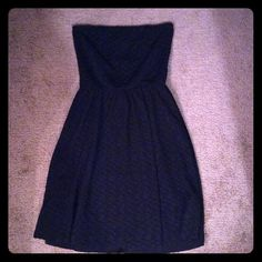 Adorable dress with back cutout Adorable dress with cute back cutout! Super comfortable and flattering, great for weddings or nights out Prevett Dresses Strapless