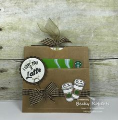 Lunch Sack Gift Card Pouches