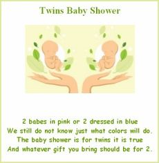 Baby Shower Poems, Twin Babies, Twins, Twin Baby Showers, Gender Reveal,  The Babys, Shower Ideas, Invitations