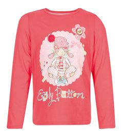 Emily Button Cotton T-Shirt Nike Store, Graphic Sweatshirt, T Shirt, Christmas Sweaters, Buttons, Sweatshirts, Pink, Party, Products