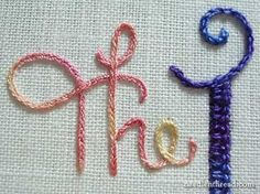 Embroidery letters tutorial