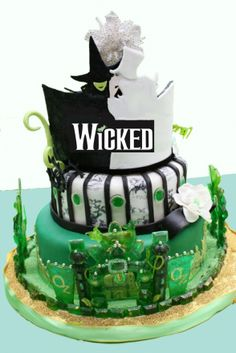 Wicked the Musical cake amazing-cakes