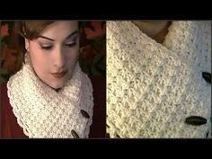 Como Tejer Una Bufanda De Cuello Corto ~ Tutorial - YouTube