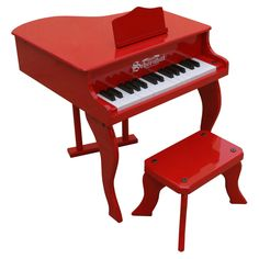 Have to have it. Schoenhut 30 Key Red Fancy Baby Grand Piano - $119.99 @hayneedle