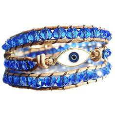 Veja nosso novo produto Pulseira de Couro Chanluu Olho Turco Azul! Se gostar, pode nos ajudar pinando-o em algum de seus painéis :)