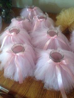 7 tutu Mason jars centerpieces