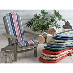 Coral Coast Classic Adirondack Chair Cushion - Give your Adirondack chair a fresh look with the Coral Coast Classic Adirondack Chair Cushion. Covered in durable, weather-resistant polyester and...