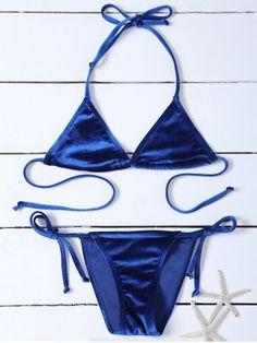 GET $50 NOW | Join RoseGal: Get YOUR $50 NOW!http://www.rosegal.com/bikinis/velvet-halter-string-bikini-1049435.html?seid=7992074rg1049435