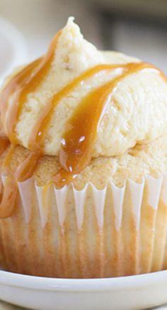 Caramel Banana Cupcakes   Taste and Tell
