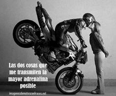 Imágenes de motos con frases de amor en pareja