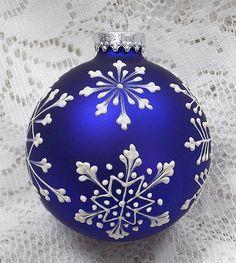 Peint blanc boue Texture Snowflakes Design avec 309 à la main bleue foncée