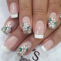 Fall Nail Art Designs, French Nail Designs, Toe Nail Designs, Nail Polish Designs, Cute Nail Art, Beautiful Nail Art, Cute Nails, Pretty Nails, Manicure And Pedicure