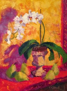 Love this oil painting from Ugallery. Provencal Pears and Orchids by Roxanne Steed. Original Artwork, Original Paintings, Oil Paintings, Online Painting, Paintings Online, Hue Color, Still Life Oil Painting, White Orchids, Still Life Art