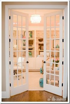 Love the idea of having french doors inside the home too.... you could use drapes for privacy on the inside