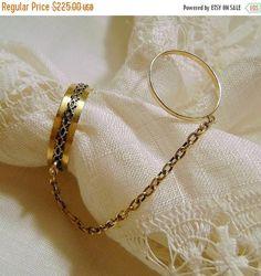 ON SALE Victorian 14K Ring: 14K Gold RingAntique Handkerchief