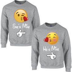 emoji love heart COUPLE SWEATSHIRT ($23) ❤ liked on Polyvore featuring tops, hoodies, sweatshirts, heart sweatshirt, sweat tops, sweatshirts hoodies, sweat shirts and heart tops