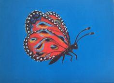 fantasie vlinder 30x40