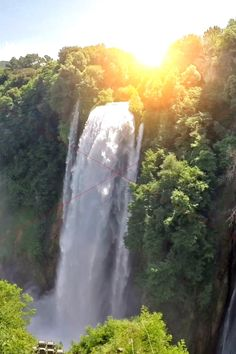 'The waterfall is nature's laughter.'