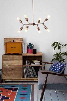 copper pipe pendant light chandelier