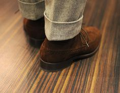 Zonkey Boot suede long wings and awesome cuffs. Suede Shoes, Men's Shoes, Tweed Men, Gents Fashion, Male Fashion, Preppy Men, Best Shoes For Men, Dapper Men, Dress With Boots