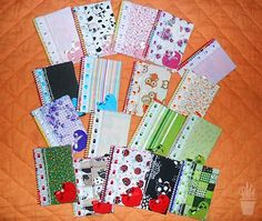 Cadernetas decoradas com tecido