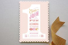 The Big One! Childrens Birthday Party Invitations by Jennifer Wick at minted.com
