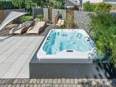 whirlpool für außen garten halb einbau | outdoor lounge, Gartengestaltung