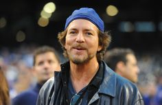 Pearl Jam frontman Eddie Vedder on the field for bp for Pirates & Cubs game in Pittsburgh. via @TribLIVE @TribSports