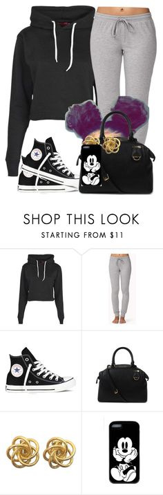 """""""Bored"""" by jaziscomplex ❤ liked on Polyvore featuring Boohoo, Forever 21, Converse and Michael Kors"""