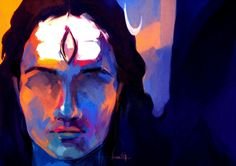 shiva abstract canvas painting