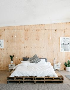 Modern and minimalistic bedroom. SWENYO sells cool stuff for your room, including furniture, bedding, lighting and accessories.