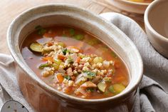Vegetable and barley soup main image