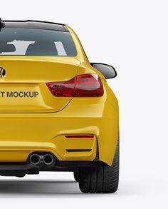 BMW M4 Mockup - Back View