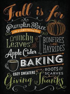 It's ALL the reasons that I love FALL so much!