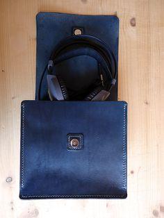 """Headphones case bag or Art Notebook Sketchbook Pencils bag """";Mohammed"""" Model via Etsy"""