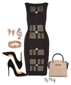 """Office Attire"" by pkoff ❤ liked on Polyvore featuring Roland Mouret, Christian Louboutin, Maria Black, Cartier, Ted Baker and Michael Kors"