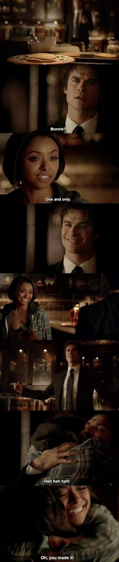 "Damon (Ian Somerhalder) and Bonnie (Kat Graham) - ""The Vampire Diaries"""
