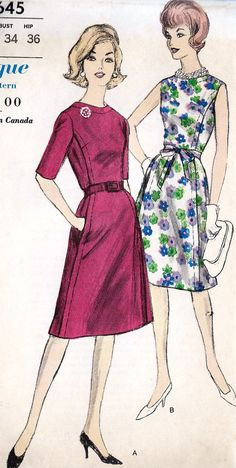 1960s Misses Summer Cocktail Sheath Dress ~ I'd classify this interesting pattern in Daywear