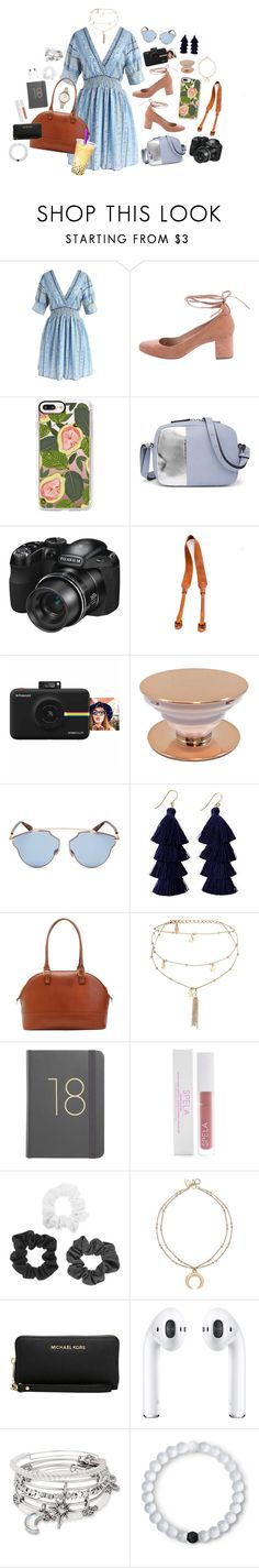 """""""Nailing the Shoot"""" by mcadamsa on Polyvore featuring Chicwish, Loeffler Randall, Casetify, French Connection, CO, Polaroid, Christian Dior, Mark & Graham, Ettika and Spela"""