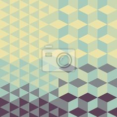 Papier peint abstract retro geometric pattern