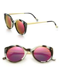 Illesteva - Palm Beach 49MM Cat's-Eye Sunglasses