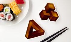 Misky na sojovou omáčku Soy Shape mají 3D efekty