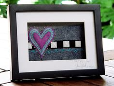 'I *heart* you...' - felt art by a little bit of just because, via Flickr