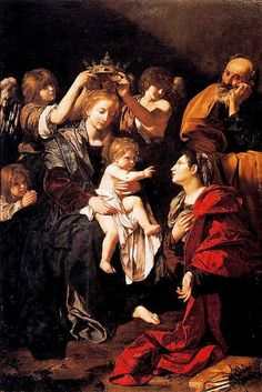 The Holy Family with Santa Catalina, Bartolomeo Cavarozzi. Dates: Dimensions: Height: 256 cm in.), Width: 170 cm in.) Medium: Painting - oil on canvas<br> Caravaggio, A4 Poster, Poster Prints, Saint Catherine Of Alexandria, Art Paintings For Sale, Baroque Art, Biblical Art, Historical Art, Catholic Art