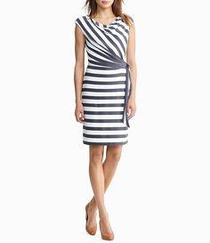 Lauren Ralph Lauren Stripe Jersey Tie-Side Dress