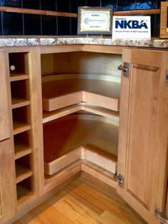 Nice Corner Kitchen Cabinet Super Susan Storage Solution Design