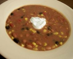 Spicy Healthy Taco Bean Soup
