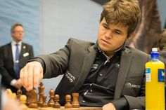 The current dominator of the Chess World: Magnus Carlsen from Norway, in play during round seven at Tata Steel in Wijk aan Zee, 2013.