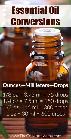 Do you know how manyof essential oils are in a bottle? This is a quick reference for converting oz ➡️ ml ➡️ drops!