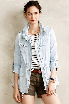 Frontier Chambray Anorak - anthropologie.com
